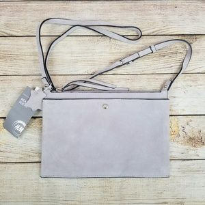 H&M Genuine Suede Tan Cream Crossbody Bag